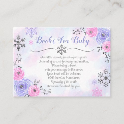 Snowflake Winter Book Request Card Books For Baby