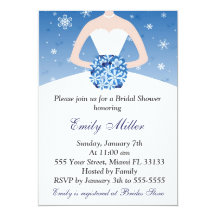 Winter bridal shower invitations announcements zazzle filmwisefo