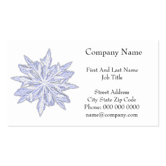 Snowflake Winter Holiday Pencil Drawing Business Card