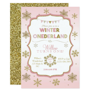 Winter Onederland Invitations Announcements Zazzle