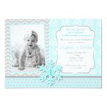 Snowflake Winter Onederland Birthday Invitation