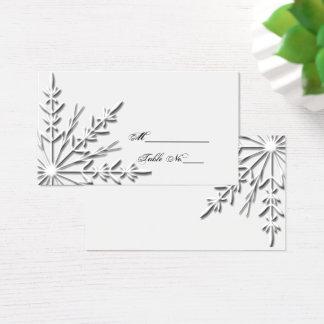 Snowflake Winter Wedding Place Card