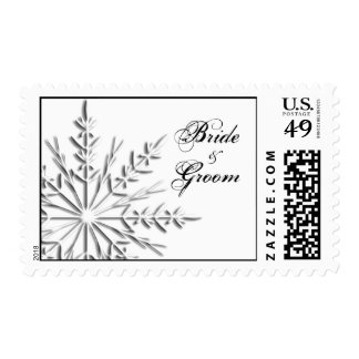 Snowflake Winter Wedding Postage