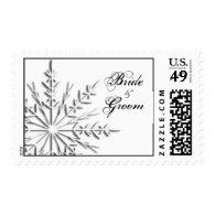 Snowflake Winter Wedding Postage Stamp