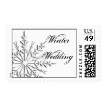 Snowflake Winter Wedding Postage Stamp