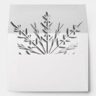 Snowflake Winter Wedding RSVP Envelope