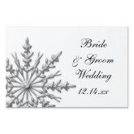 Snowflake Winter Wedding Yard Sign