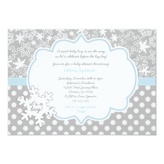 Good Snowflake Winter Wonderland Baby Shower Invitation