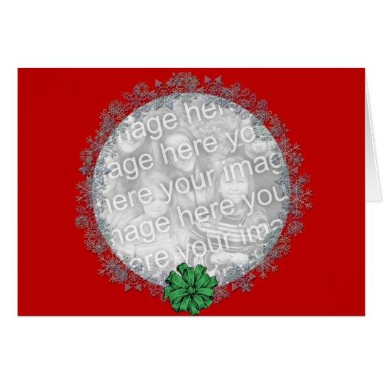 Snowflake Wreath Card