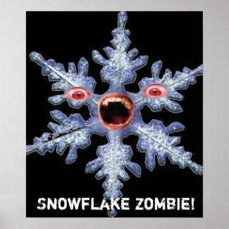 Snowflake Zombie! Poster print