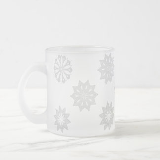 SnowflakeFrosted Glass Mug
