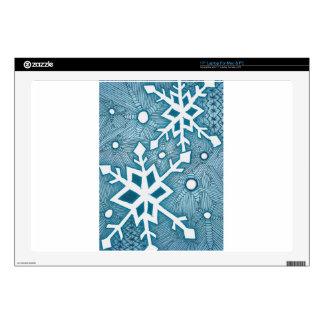 "Snowflakes 17"" Laptop Decals"