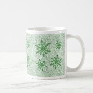 Snowflakes 1 Green - Coffee Mug