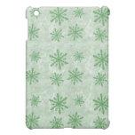 Snowflakes 1 Green - iPad Mini Cover