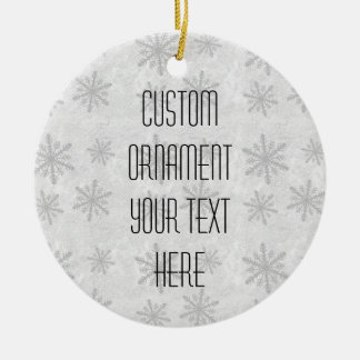 Snowflakes 1 - Grey B&W Ceramic Ornament