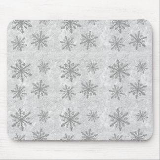 Snowflakes 1 - Grey B&W Mouse Pad
