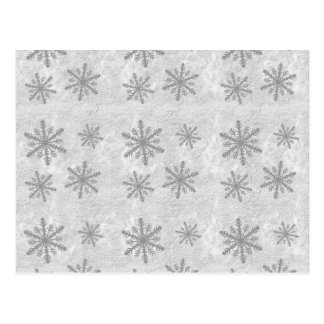 Snowflakes 1 - Grey B W Postcards