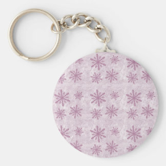 Snowflakes 1 - Pink - Keychain