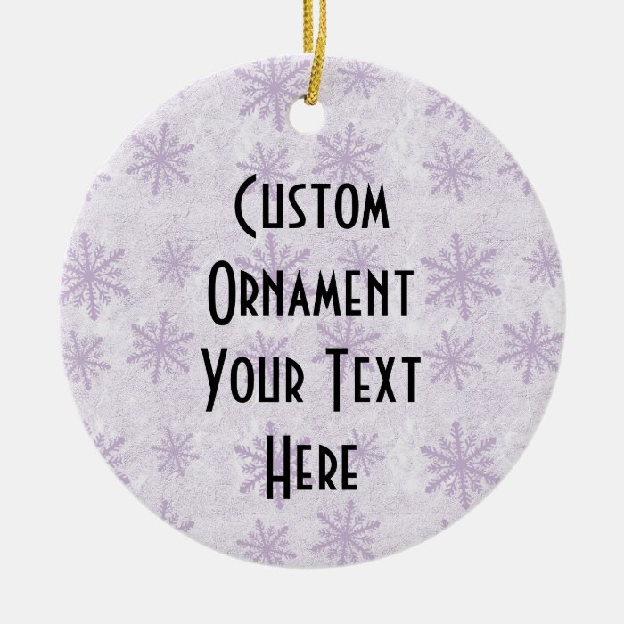 Snowflakes 1 - Purple Ceramic Ornament
