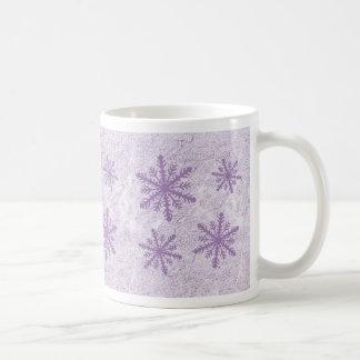 Snowflakes 1 - Purple Coffee Mug