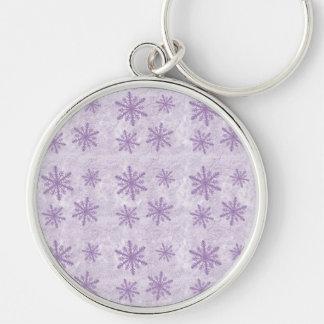 Snowflakes 1 - Purple Keychain