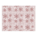 Snowflakes 1 - Red Post Card
