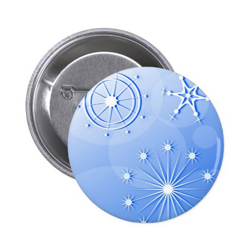 Snowflakes 2 Inch Round Button