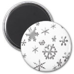 SNOWFLAKES 2 INCH ROUND MAGNET