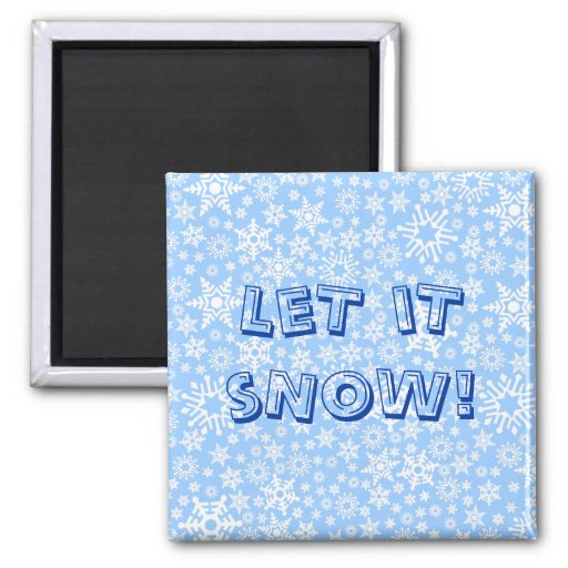 Snowflakes 2 Inch Square Magnet