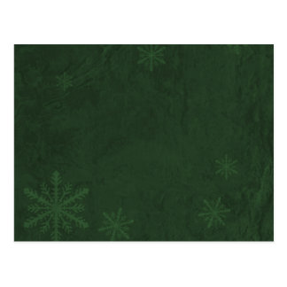 Snowflakes 4 - Original Dark Green Postcard