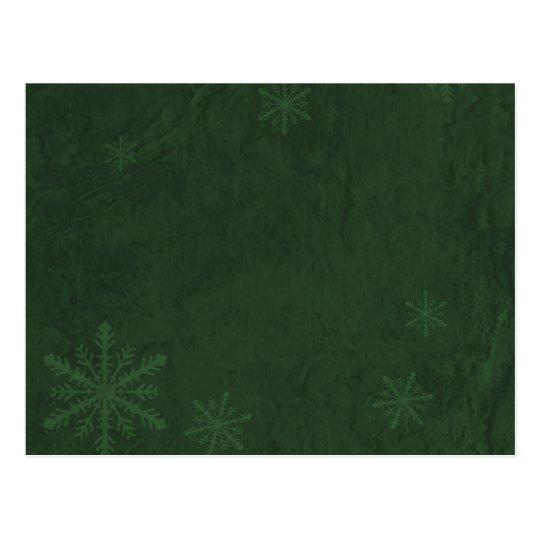 Snowflakes 4 - Original Dark Green Postcard