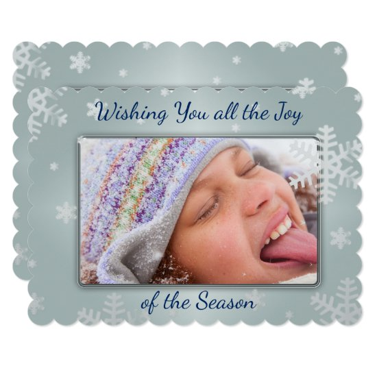 Snowflakes Abound! Two Sided Photo Christmas Card