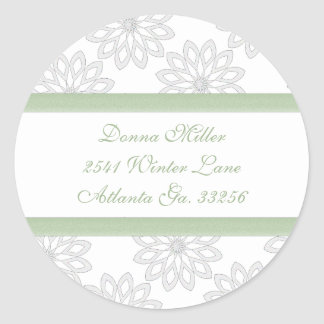 Snowflakes Adderess Labels Classic Round Sticker