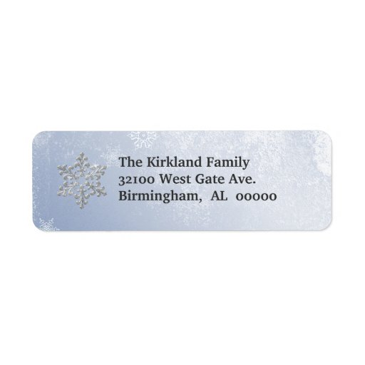 Snowflakes Address Labels
