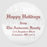 Snowflakes - Address Labels Stickers