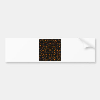 Snowflakes – Amber on Black Bumper Stickers