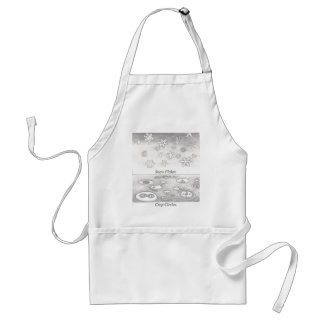 Snowflakes and Crop Circles Compared Apron