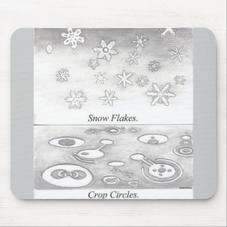 Snowflakes and Crop Circles Compared Mouse Pad