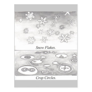 Snowflakes and Crop Circles Compared Post Card