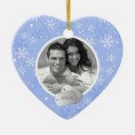Snowflakes and Dog Tags Ornaments