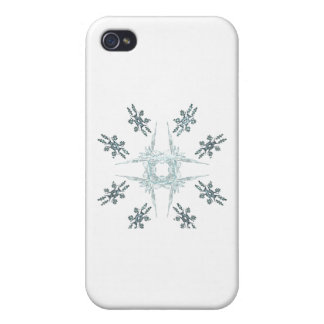 Snowflakes and Frost Case For iPhone 4