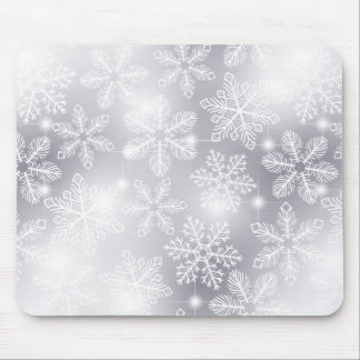 Snowflakes and lights mouse pad