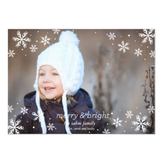 Snowflakes and Merry & Bright Personalized Invitation