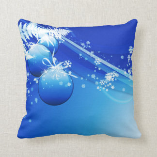 Snowflakes and Ornaments Pillow
