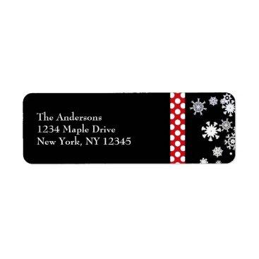 Christmas Themed Snowflakes and Polka Dots Christmas Labels