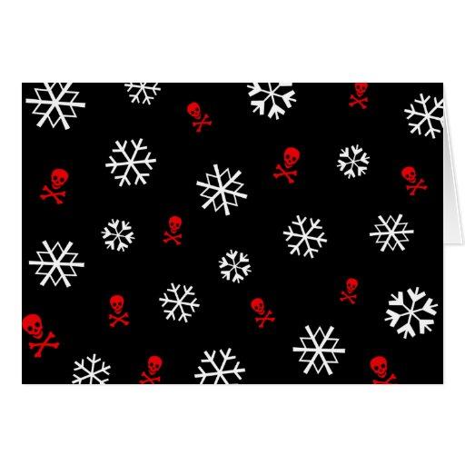 Snowflakes and Skulls Card