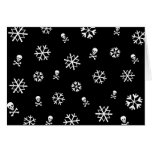 Snowflakes and Skulls Holliday Cards