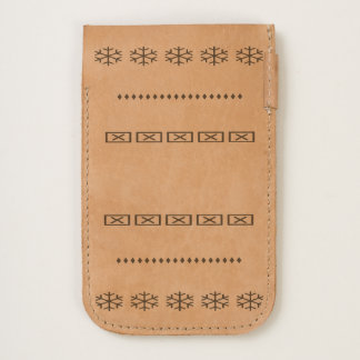 Snowflakes and Squares Phone Pouch iPhone 6/6S Case