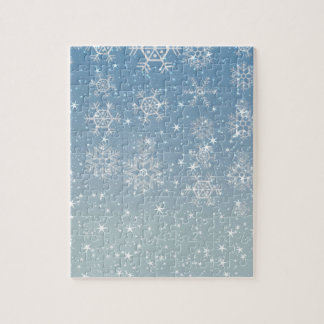 Snowflakes And Stars Jigsaw Puzzle