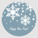 Snowflakes and Stars Stickers, Blue